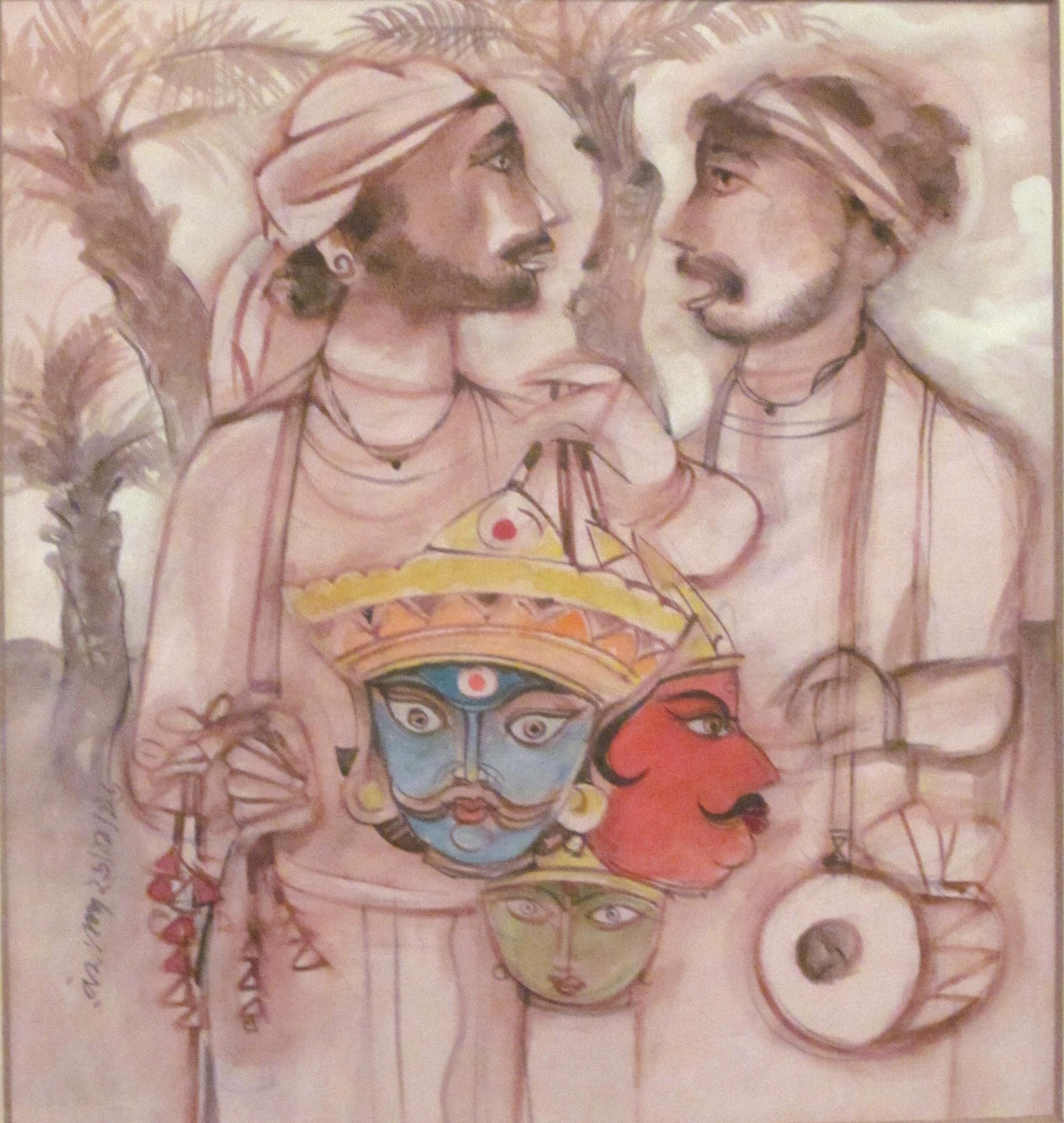 Watercolor artists names - Watercolour Ramananda Bandyopadhyay